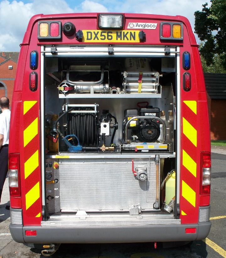 STAFFORDSHIRE FIRE & RS Light Fire Appliance TRV