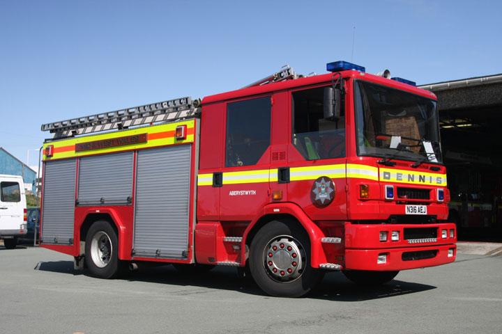 Aberystwyth Wales Fire station Dennis