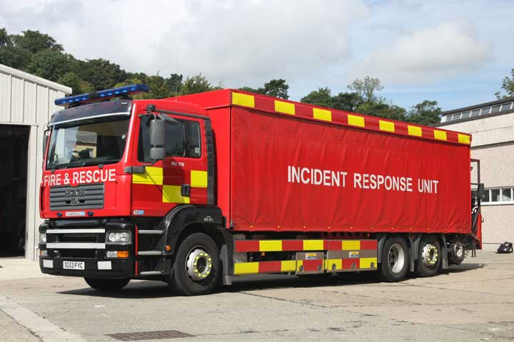 Bangor Fire station MAN IRU
