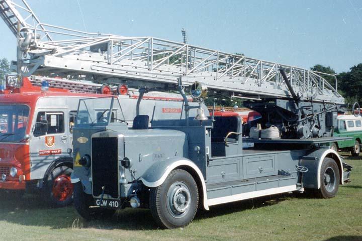 Old  Leyland / Merryweather 100'Turntable Ladder