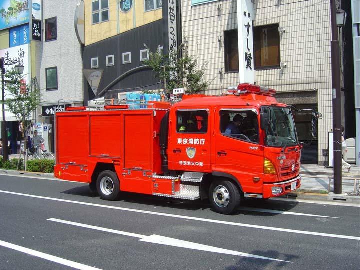 Tokyo FD Hino pumper Asakusa Fire station