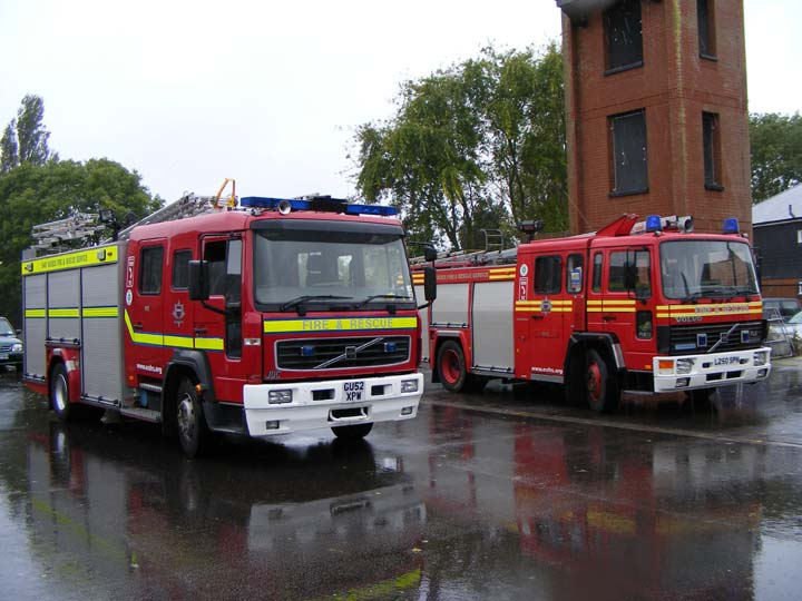 East Sussex FRS Rye lineup Volvos
