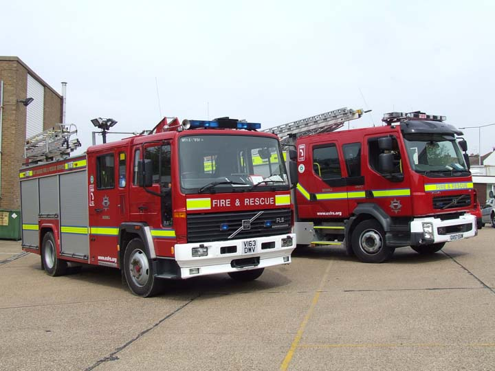 East Sussex FRS Bexhill station 2 Volvos
