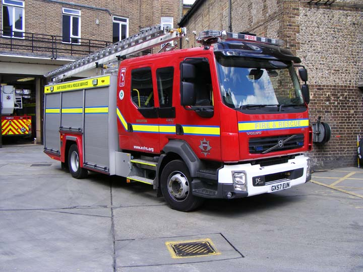 East Sussex FRS Brighton Fire station Volvo