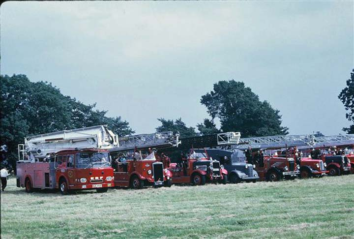 Classic fire truck  line up