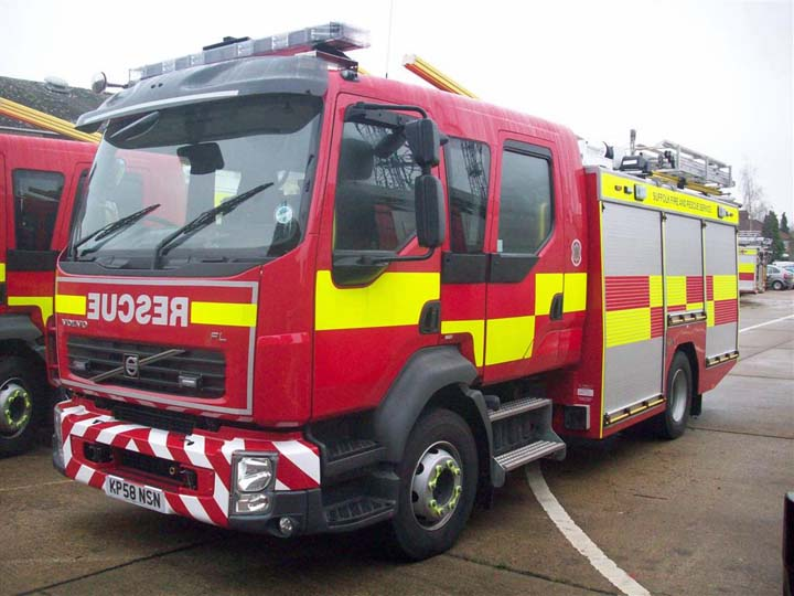 Suffolk Fire and Rescue new Pump rescue tender