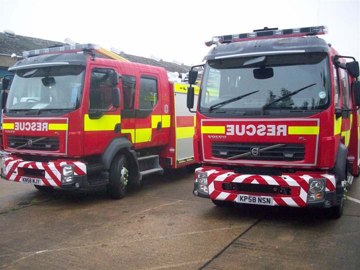 Suffolk Fire and Rescue new Pump rescue tenders