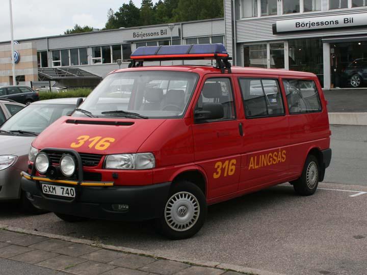 Fire brigade Alingsas Sweden VW Transporter