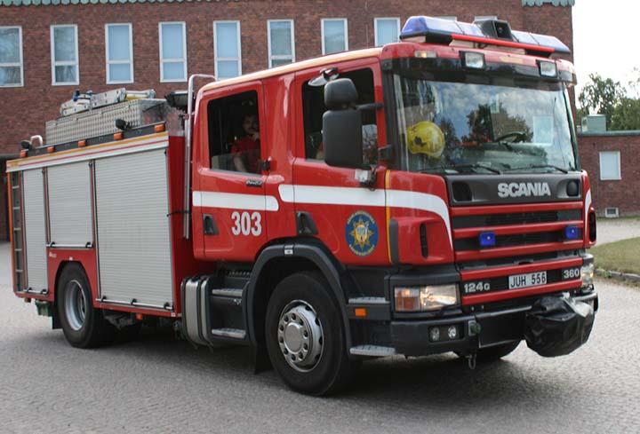 Sörmlandskustens Räddningstjänst Scania pump
