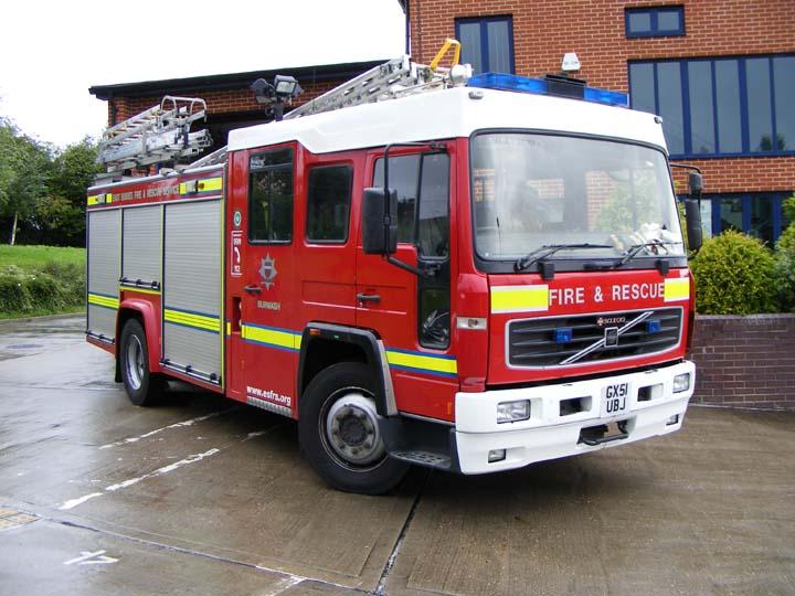 East Sussex FRS Volvo Saxon Burwash Fire Station