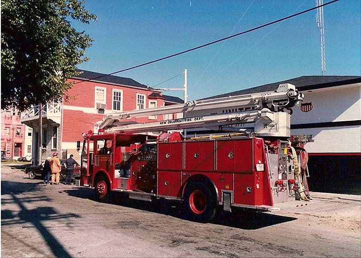 New Orleans Fire Department's squirt in 1990