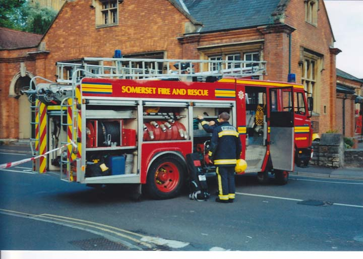 Somerset Fire and Rescue Mercedes-Benz Saxon