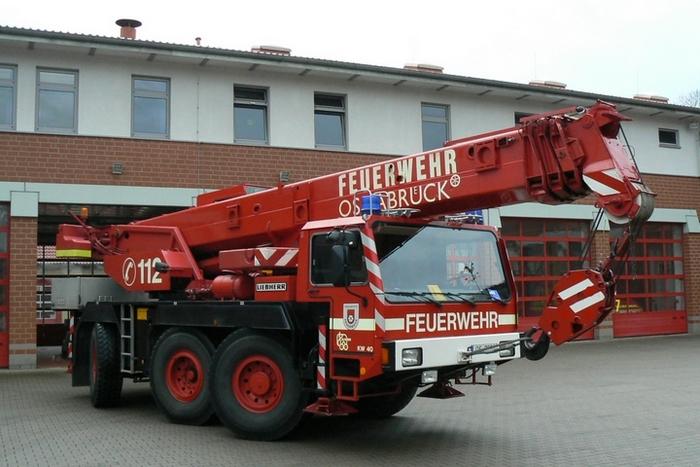 Feuerwehr Osnabrück Liebherr Feuerwehrkran