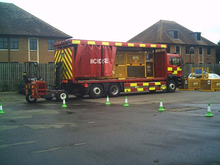 Surrey IRU MAN at Leatherhead fire station