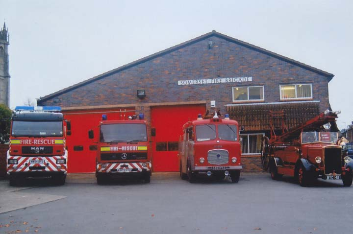 Fire Engines Photos Line Up At Glastonbury Fire Station 2006