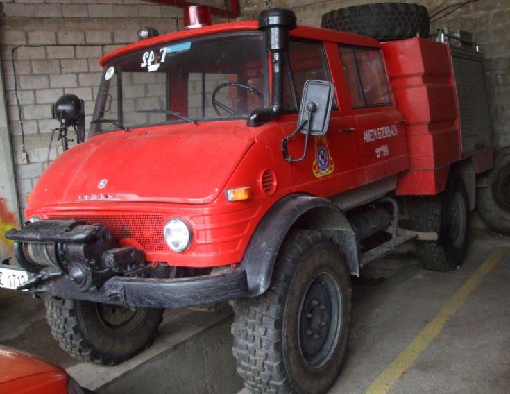 Unimog U125 Rosenbauer pump Greece