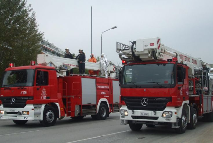 Greek Fire parade Mercedes Actros