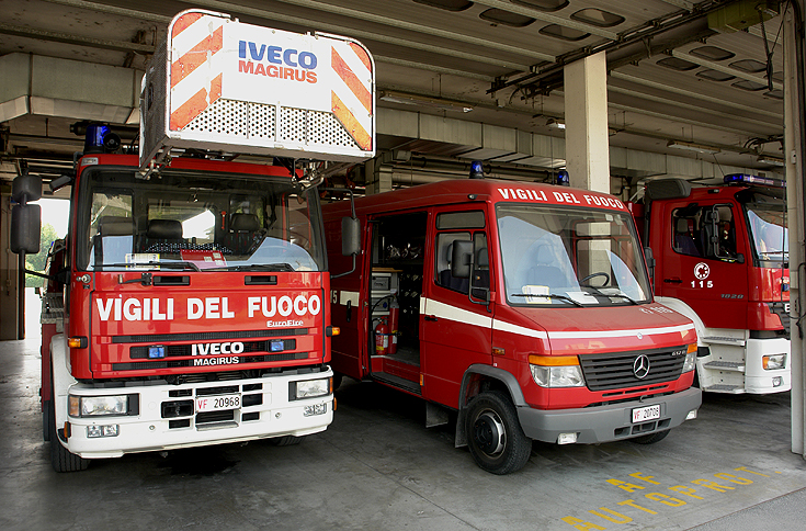 Bologna Italy Iveco Turntable ladder