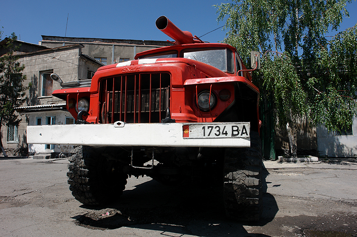 Bishkek Fire department Ural fire truck