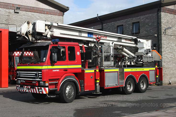 Dumfries Fire station Scania Bronto ALP