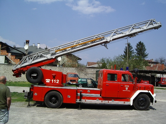 Turntable ladder Magirus Cazin Bosnia