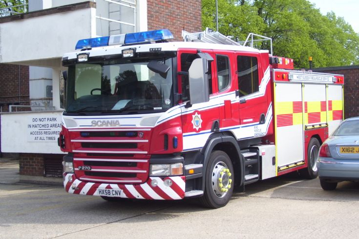 West Sussex Fire and Rescue Service Scania