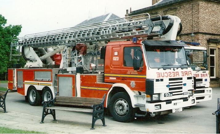 Cleveland Fire Brigade Scania Hydraulic Platform