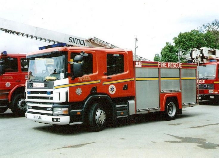 Cleveland Fire Brigade Scania 94D at Preston Park