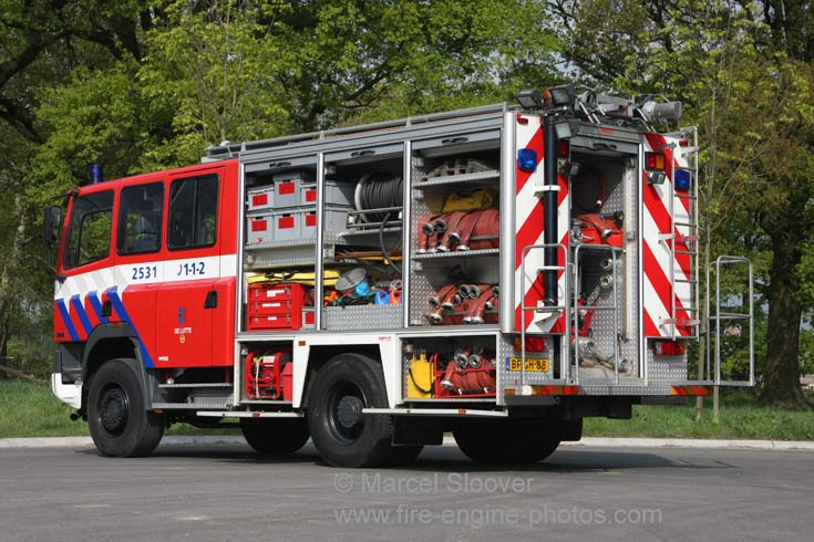 Brandweer De Lutte DAF watertender back