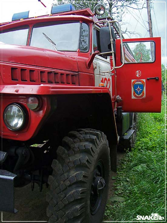 Ural fire engine Pasha Russia