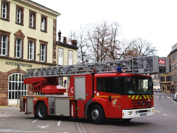 Mercedes Econic Metz ladder Bas-Rhin