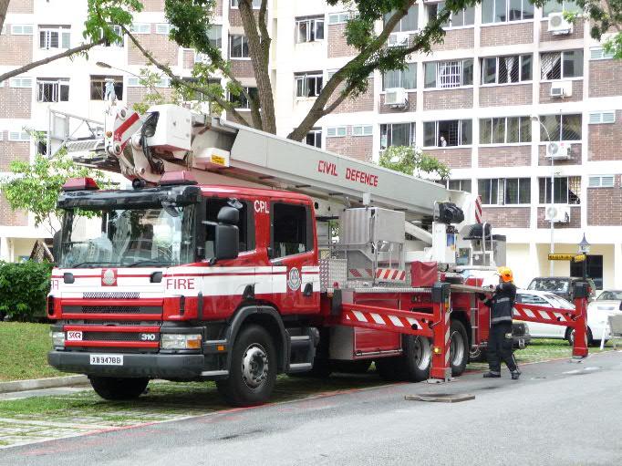 SCDF Combine Ladder Platform Scania