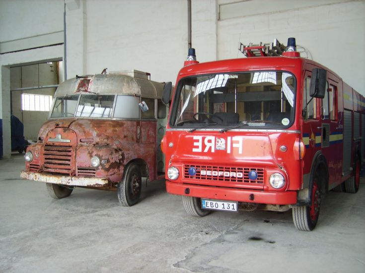 Two Bedford Fire engines Malta