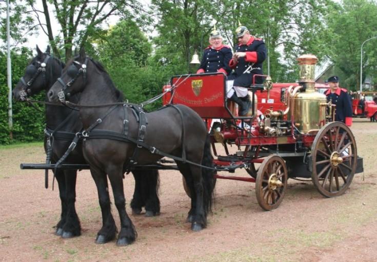 Feuerwehr Duisburg steam fire engine