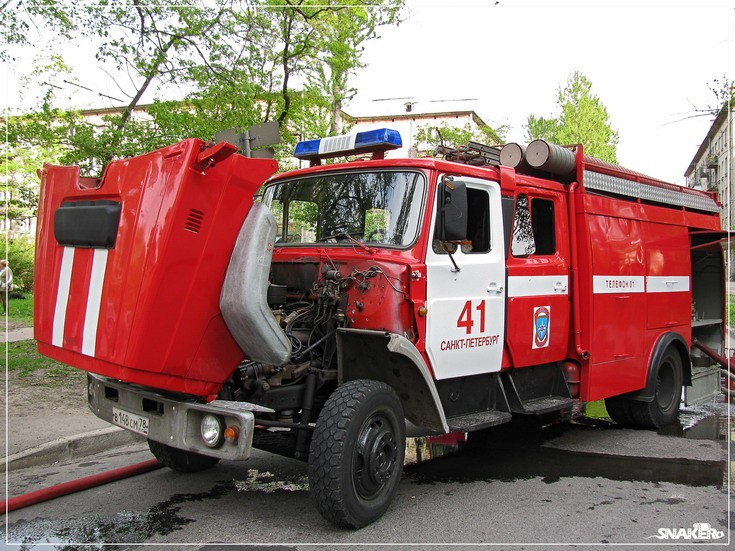 Zil Fire engine St Petersburg Russia