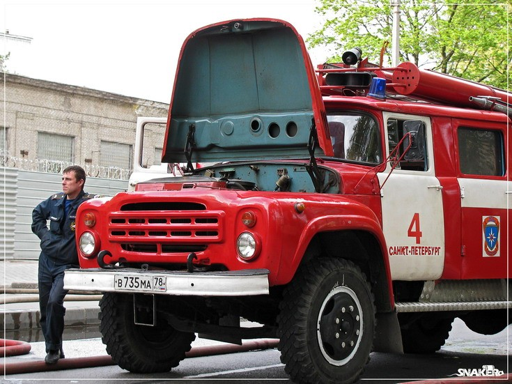 Zil-130 Fire engine St Petersburg Russia