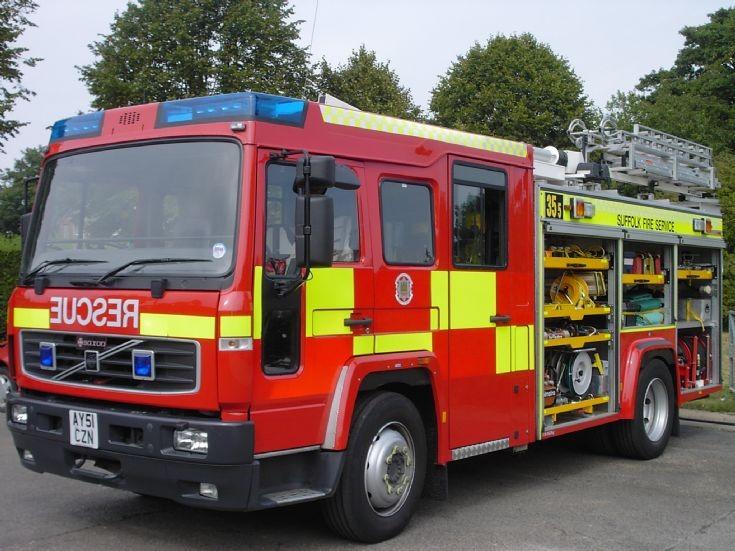 Suffolk Fire service Volvo Saxxon