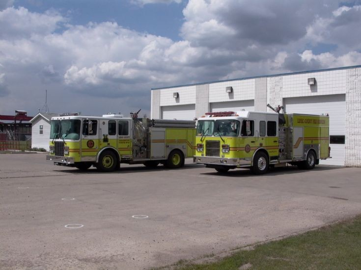 Leduc Countys Fire engine line up