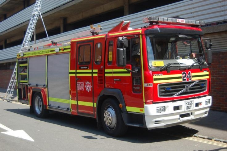 HX56 RGY Water Tender Ladder Southsea Hampshire