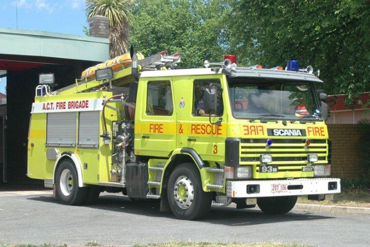 Scania 93ML250 rescue pumper Canberra