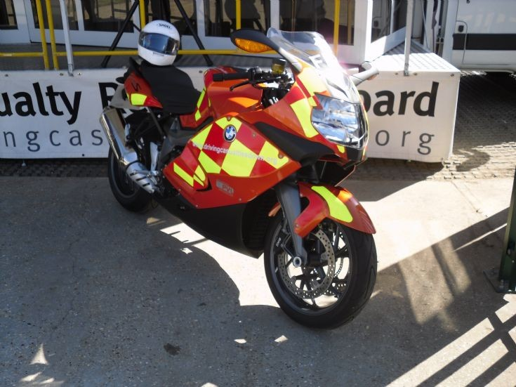 Essex Fire and Rescue Service BMW motorcycle