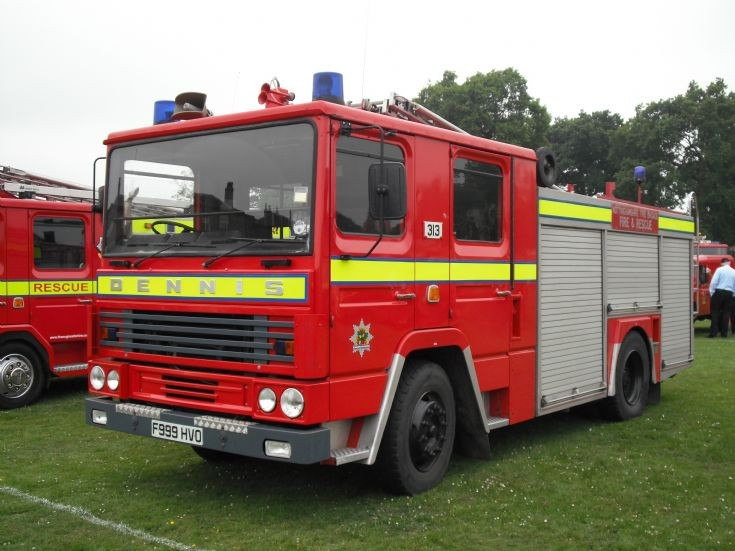 Nottinghamshire Fire Brigade Dennis Appliance