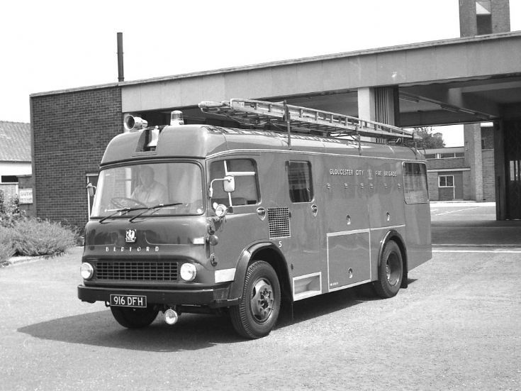 City of Gloucester fire brigade Bedford