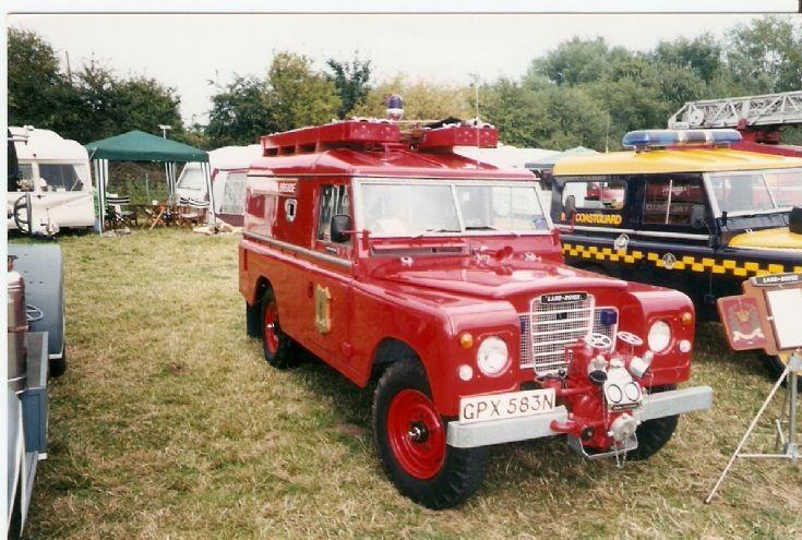 Hampshire Fire Brigade Land Rover