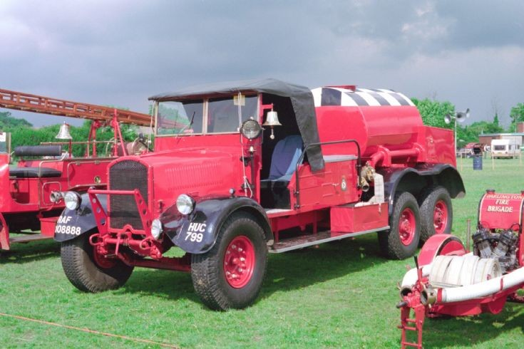 War Time fire engine Teesside 1984.