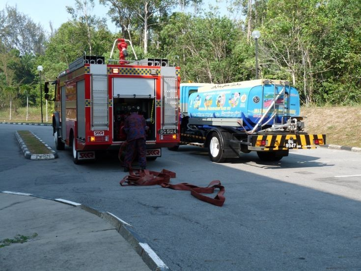 WRT4 and PWD Water Tanker Brunei