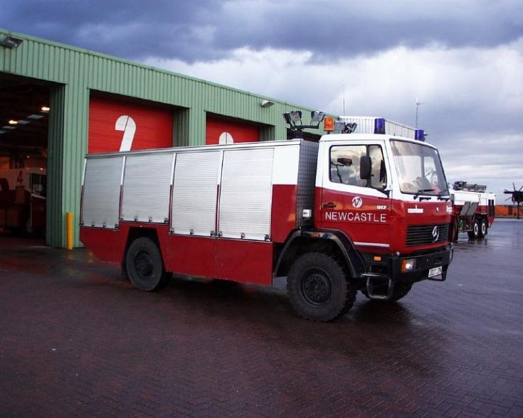 Rescue one Newcastle airport