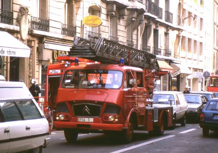 Paris Fire Brigade Citroen 350 Ladder