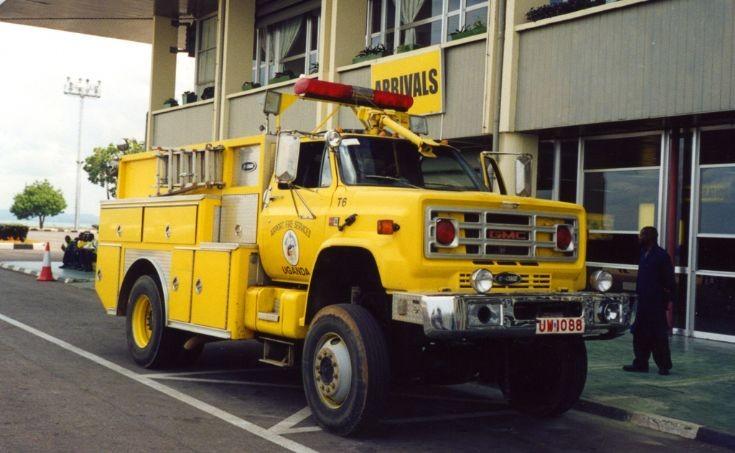 E-One fire engine at Entebbe airport, Uganda
