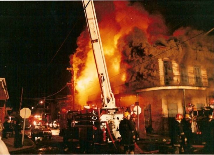 New Orleans FD in action in 1989
